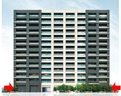 階高が高いマンションのエントランスホール